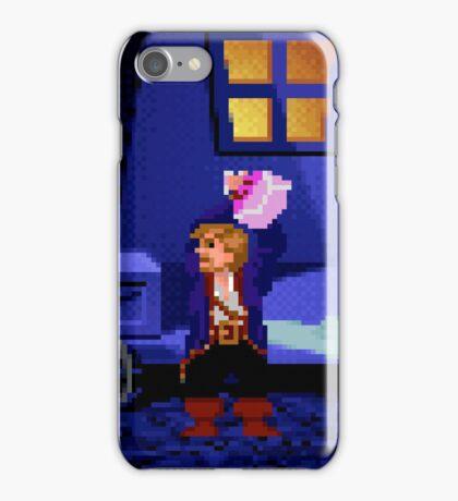 Guybrush and the voodoo (Monkey Island 2) iPhone Case/Skin
