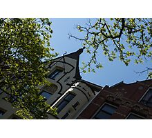 Amsterdam Spring - Green, Red and Cream Sunshine - Right Photographic Print