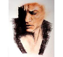 Charcoal Portrait - Shah Rukh Khan Photographic Print