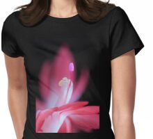 pink Bloom macro Womens Fitted T-Shirt