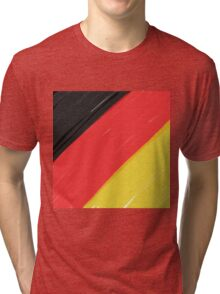 Black, Red and Yellow Tri-blend T-Shirt