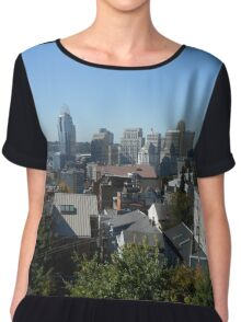 Cincinnati City View Chiffon Top