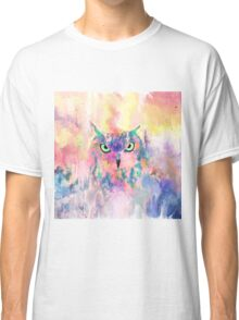 Watercolor eagle owl abstract paint Classic T-Shirt