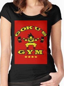 GOKU'S GYM Women's Fitted Scoop T-Shirt