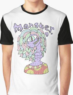 Pastel Monster Girl Design Graphic T-Shirt