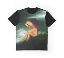Hand Painted Lonliness Illustration Graphic T-Shirt
