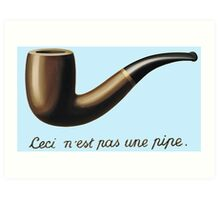 This is not a Pipe  Art Print