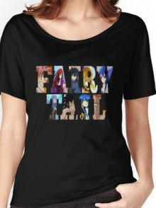 FairyTail Font Characters,Anime Women's Relaxed Fit T-Shirt