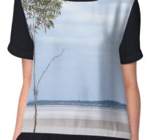 Alone Upon The Shore Chiffon Top