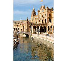 Plaza de Espana river - Seville  Photographic Print