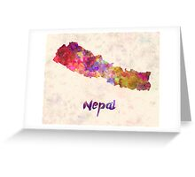 Nepal in watercolor Greeting Card