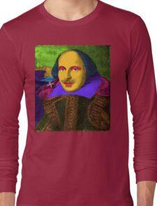 William Shakespeare Pop Art Long Sleeve T-Shirt