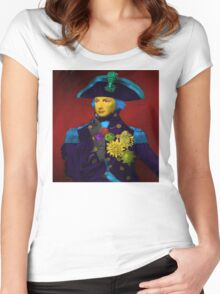 Horatio Nelson Pop Art Women's Fitted Scoop T-Shirt