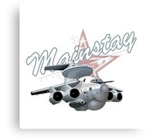 Cartoon AWACS Plane Canvas Print