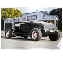 1932 Ford Roadster 3Q Rear View Poster
