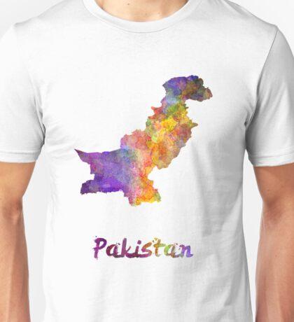 Pakistan in watercolor Unisex T-Shirt