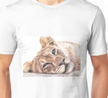 Tired Young Lion Unisex T-Shirt