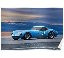 1964 Chevrolet Kellison Vintage GT Racecar Poster