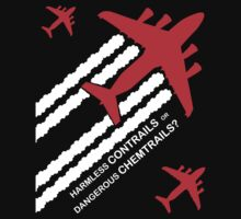 Harmless Contrails or Dangerous Chemtrails? Kids Tee