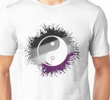 Asexual Pride Yin and Yang Unisex T-Shirt