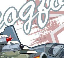 Cartoon Attack Warplane Sticker