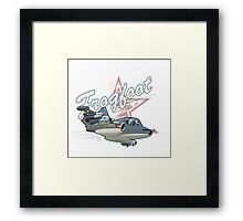 Cartoon Attack Warplane Framed Print