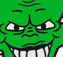 evil vile monster horror halloween demon cactus cartoon comic funny villain face Sticker