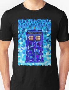 British blue phone booth cubic art Unisex T-Shirt