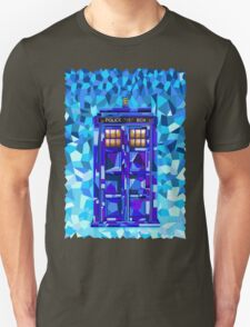 British blue phone booth cubic art Unisex T-Shirt