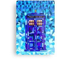 British blue phone booth cubic art Metal Print