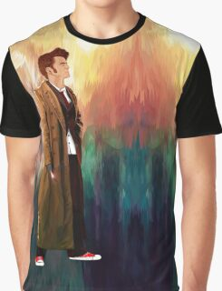 Time Traveller with abstract background art painting Graphic T-Shirt