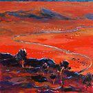 The Living Desert, Broken Hill,S.A. Sunset.  by Virginia McGowan