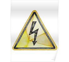 Electrical Hazard Here Poster