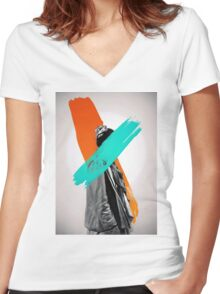 Paint Women's Fitted V-Neck T-Shirt