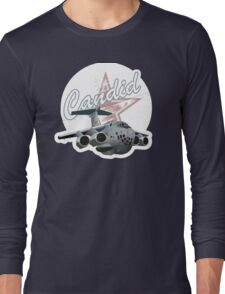 Cartoon Military Cargo Plane Long Sleeve T-Shirt