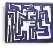 cryptic maze Canvas Print