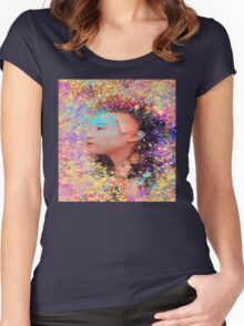 Mask of Impressionism Women's Fitted Scoop T-Shirt