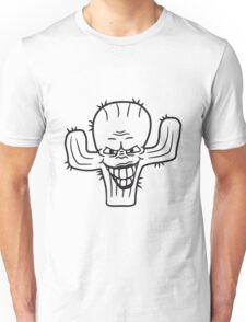 evil vile monster horror halloween demon cactus cartoon comic funny villain face Unisex T-Shirt