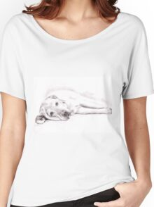 Tired Labrador - Sepia Portrait Women's Relaxed Fit T-Shirt