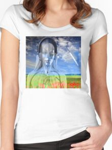 Silver Machine Women's Fitted Scoop T-Shirt