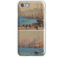 FAUSTO ZONARO  TWO VIEWS OF THE BOSPHORUS A PAIR iPhone Case/Skin