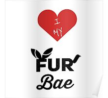 I Heart My Fur Bae Poster