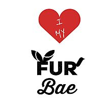 I Heart My Fur Bae Photographic Print