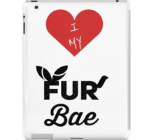 I Heart My Fur Bae iPad Case/Skin