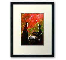 Playing chess with Death Framed Print