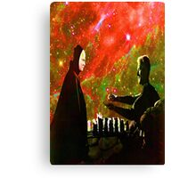 Playing chess with Death Canvas Print