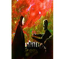 Playing chess with Death Photographic Print