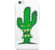 evil monster face eat dangerously funny comic cartoon horror halloween cactus iPhone Case/Skin
