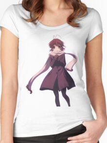 Nagisa Winter Coat - Clannad Women's Fitted Scoop T-Shirt