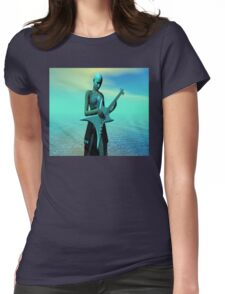 Sad Guitar Womens Fitted T-Shirt